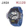 JAGA 捷卡 M1120-EA 超越時空 多功能電子錶-藍黑