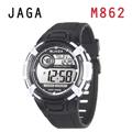 JAGA M862-AD 熱活動能運動家多功能電子錶-黑白