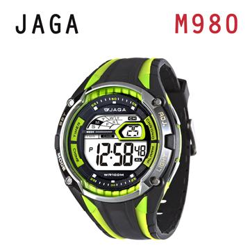 JAGA M980-AF 超級戰將多功能電子錶-黑綠
