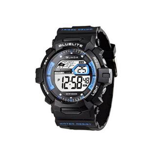JAGA M979-AE 粗礦豪邁多功能電子錶-黑藍
