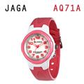 JAGA AQ71-DG 色彩繽紛夜光防水指針錶-白粉