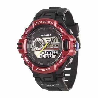 JAGA 捷卡 AD1134 暗夜時空多功能雙顯錶