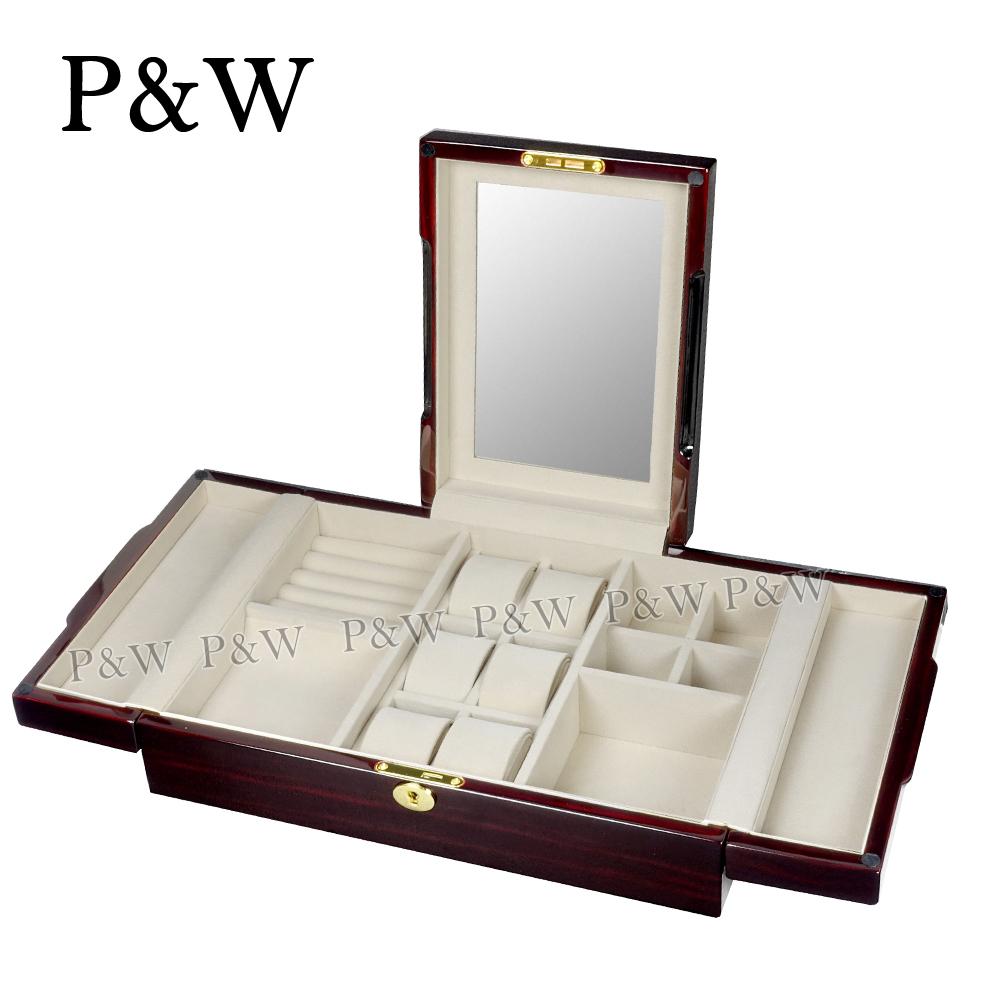 【P&W珠寶收藏盒】 【手工精品】 木質鋼琴烤漆 首飾盒+錶盒