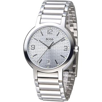 HUGO BOSS 同名LGOG復刻錶盤男錶(銀色)