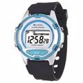 JAGA捷卡 M267防水多功能運動電子錶-白藍