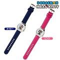 三麗歐 哆啦A夢 Hello Kitty 雙錶盤腕錶 日本製