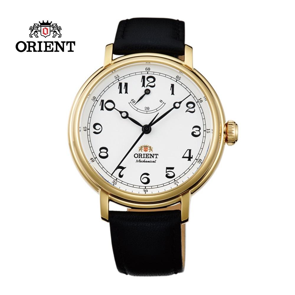 ORIENT 東方錶 POWER RESERVE系列 經典復古手動上鍊機械錶 皮帶款 FDD03001W 金色 - 40mm