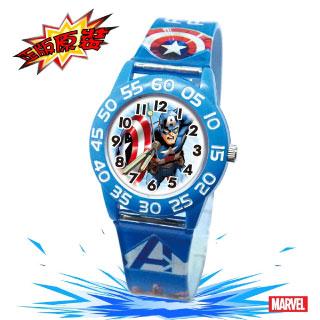 【Marvel漫威】復仇者聯盟數字兒童錶-藍色_強悍美國隊長