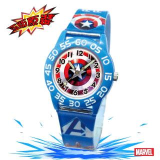 【Marvel漫威】復仇者聯盟數字兒童錶-藍色_美國隊長盾牌