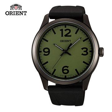 ORIENT 東方錶 BASIC SPORTS系列 運動石英錶 橡膠錶帶 FQC0U008F  綠色  - 43mm