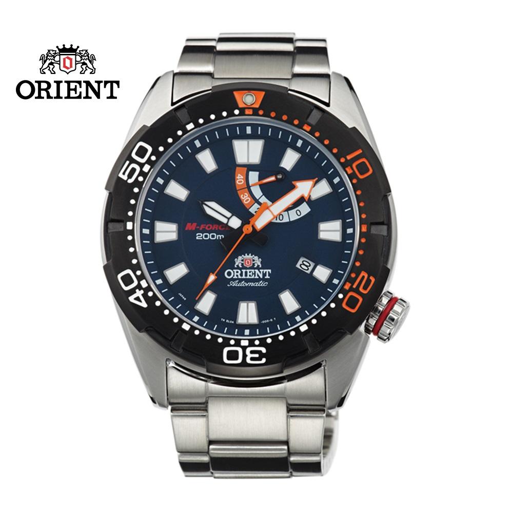 ORIENT 東方錶 M-FORCE 2015年新款 200m潛水機械錶 鋼帶款 SEL0A002D 藍色 - 45mm