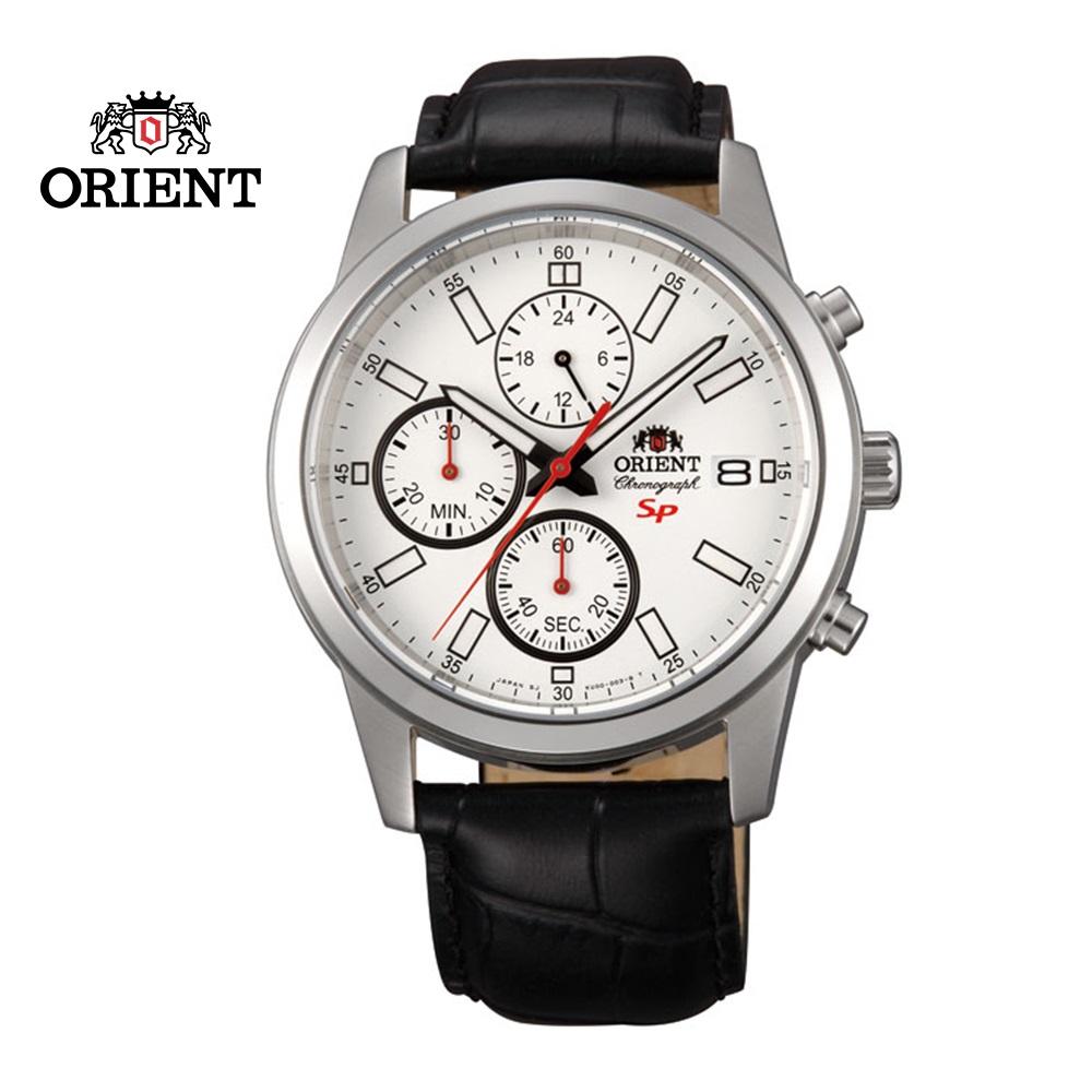 ORIENT東方錶SP系列三眼功能運動石英錶皮帶款FKU00006W白色-42mm