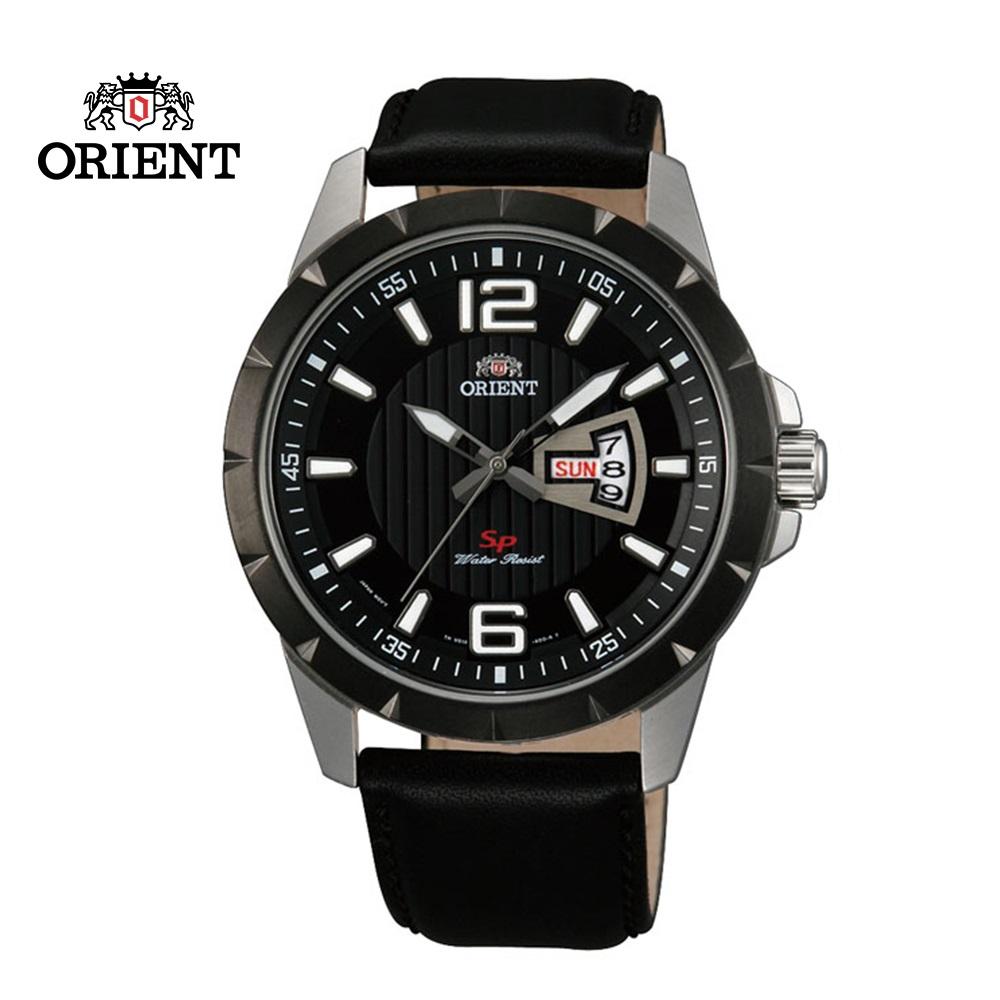 ORIENT 東方錶 SP 系列 寬幅日期運動石英錶 皮帶款  FUG1X002B 黑色 - 43mm