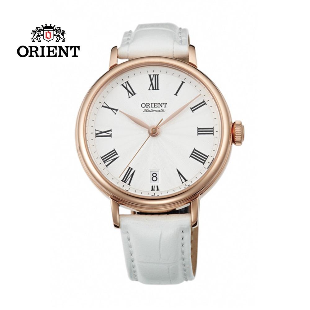 ORIENT 東方錶 ELEGANT系列 羅馬假期復古機械錶 皮帶款 FER2K002W 白色 - 37.5mm
