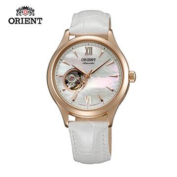 ORIENT東方錶ELEGANT系列優雅小鏤空機械錶皮帶款FDB0A002W白色-36mm