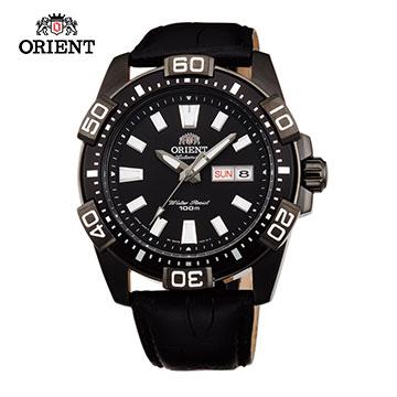 ORIENT 東方錶 WATER RESISTANT 100m系列 Marine運動機械錶 皮帶款 FEM7R004B 黑色 - 45.5mm