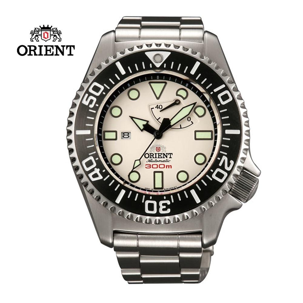 ORIENT 東方錶 GAS- DIVING系列 300m專業潛水機械錶 鋼帶款  SEL02003W 白色 - 45.7 mm