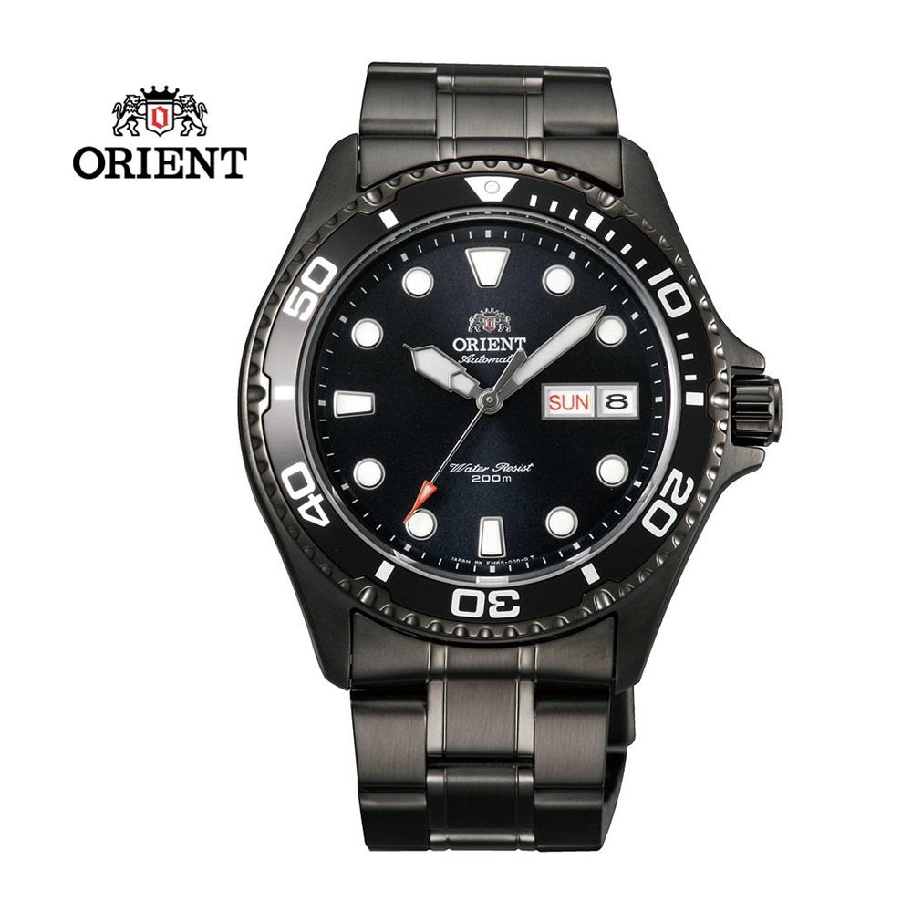 ORIENT 東方錶 WATER RESISTANT系列 200m潛水機械錶 鋼帶款 黑色 FAA02003B - 41.5 mm