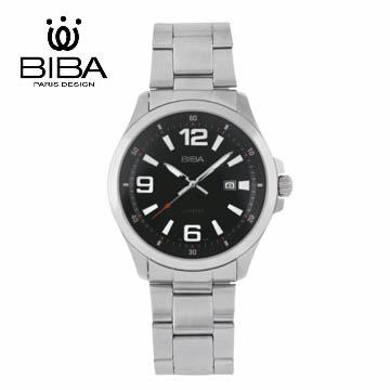 法國 BIBA 碧寶錶 經典系列 藍寶石玻璃石英錶 B121S102B 黑色-42mm