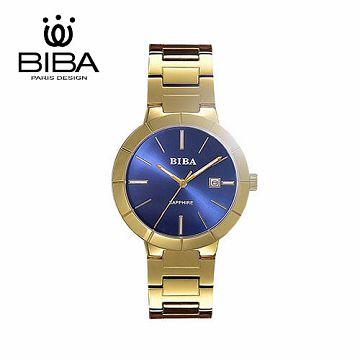 法國 BIBA 碧寶錶 永恆光影系列 藍寶石玻璃石英錶 B320S304D 藍色-32mm