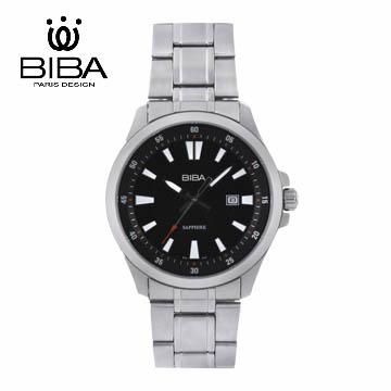 法國 BIBA 碧寶錶 經典系列 藍寶石玻璃石英錶 B121S101B 黑色-42mm