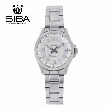 法國 BIBA 碧寶錶 經典系列 藍寶石玻璃石英錶 B321S102W 白色-35mm