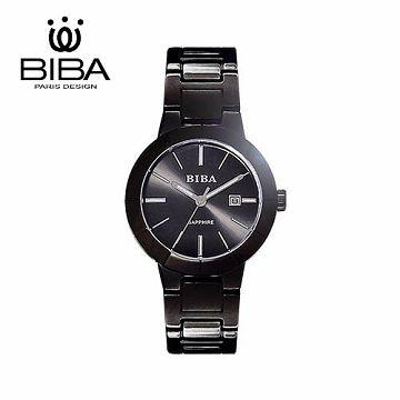 法國 BIBA 碧寶錶 經典系列 藍寶石玻璃石英錶 B32BS304B 黑色-35mm