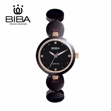 法國 BIBA 碧寶錶 純粹晶瓷系列 藍寶石 玻璃石英錶 B31BC049B 黑色-28mm