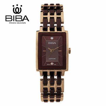 法國 BIBA 碧寶錶 純粹晶瓷系列 藍寶石玻璃石英錶 B31TC203T 咖啡色-22 X 32.0mm
