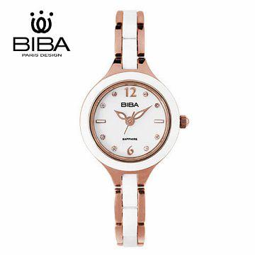 法國 BIBA 碧寶錶 純粹晶瓷系列 藍寶石玻璃石英錶 B31WC046W 白色-28mm
