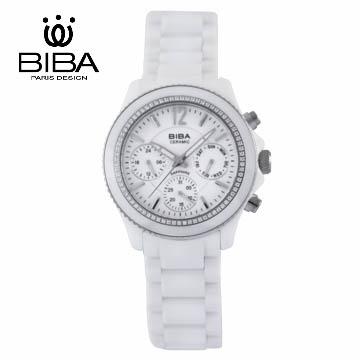 法國 BIBA 碧寶錶 絕色系列 藍寶石玻璃石英錶 B75WC041W 金色-38mm