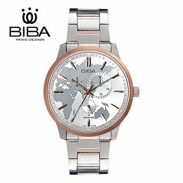 法國 BIBA 碧寶錶 絕色系列 藍寶石玻璃石英錶 B752S104W 白色-45mm