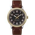 TIMEX 天美時 風格系列 極簡手錶(黑/咖啡色 TXTW2R22900)