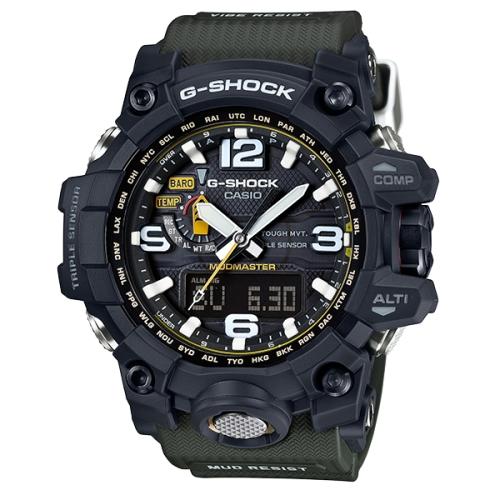 【CASIO 卡西歐】G-SHOCK 探險家電波數位雙顯太陽能錶(GWG-1000-1A3)