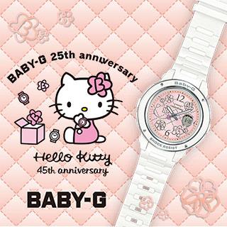 CASIO 卡西歐 BABY-G X HELLO KITTY 凱蒂貓 25周年限量聯名款 BGA-150KT-7B