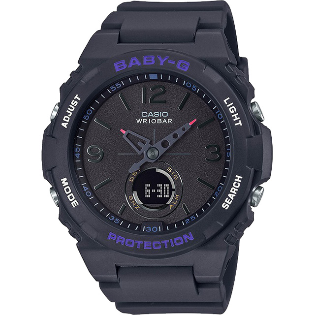 CASIO 卡西歐 BABY-G OUTDOOR LIFESTYL 露營系童趣手錶 BGA-260-1A