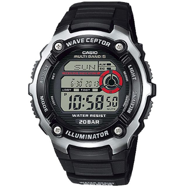 【CASIO 卡西歐】世界五局電波運動腕錶(WV-M200-1AJF)