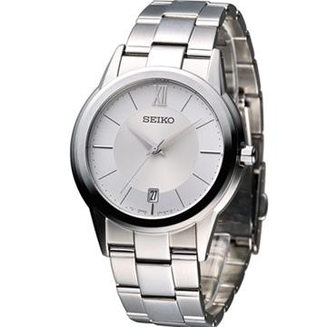 SEIKO 極簡紳士時尚腕錶 7N42-0FE0S SGEF41P1