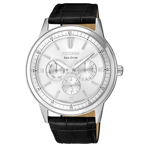CITIZEN GENTS超越時代三眼計時光動能腕錶/ BU2071-01A