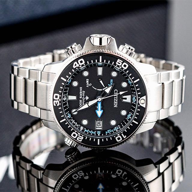 CITIZEN Eco-Drive 都會潛水光動能腕錶/ 藍黑(BN2031-85E)
