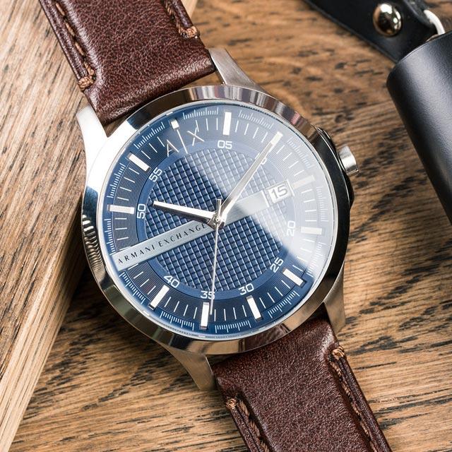 熱銷到貨 特殺價 【ARMANI EXCHANGE】經典紳士格紋時尚腕錶(AX2133)