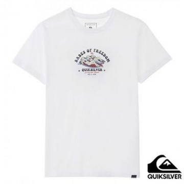 【QUIKSILVER】BABES OF FREEDOM ST T恤 白色