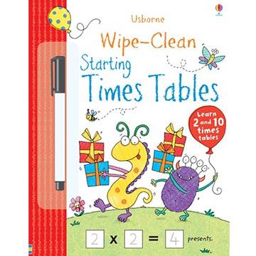 Wipe-Clean Starting Times Tables可擦拭練習本:九九乘法表(外文書)