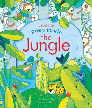 Peep Inside the Jungle看看叢林有什麼?(翻翻書)(厚頁書)(外文書)
