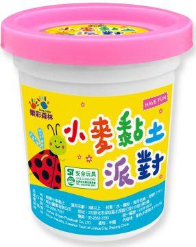 小麥黏土派對‧單色罐裝:粉紅色