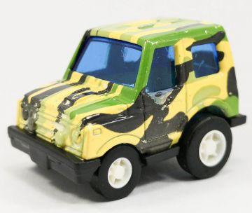 迷你迴力合金車:吉普車迷彩綠