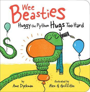 Huggy the Python Hugs Too Hard 愛抱抱的哈吉小蟒蛇(互動書)厚頁書(外文書)