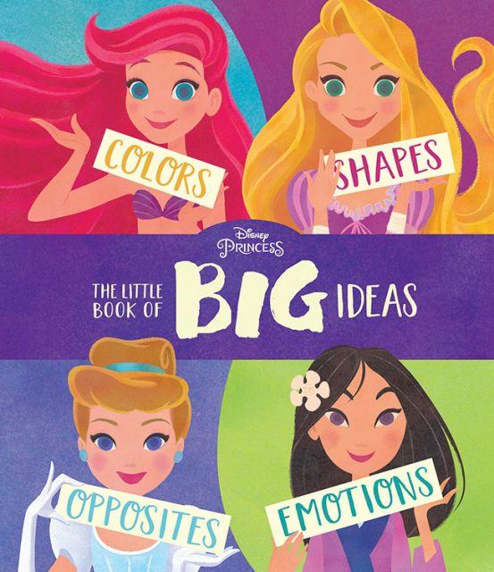 Disney Princess The Little Book of Big Ideas  迪士尼公主大小事:對比、顏色、形狀、情緒概念書(厚頁書)(外文書)