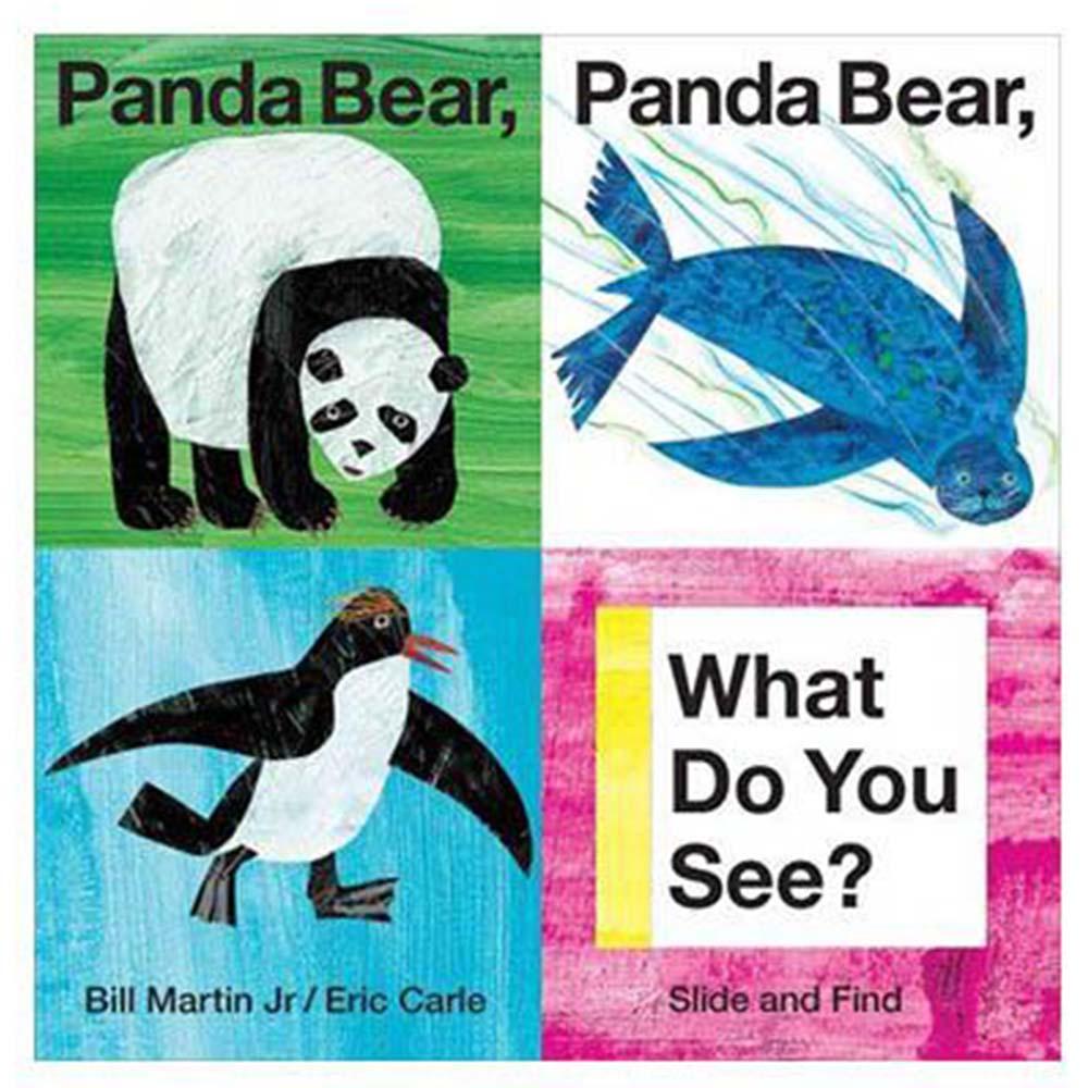 Slide And Find Panda Bear, Panda Bear, What Do You See? 推拉硬頁書(美國版)(外文書)