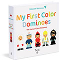 My First Color Dominoes The Game of Color Discovery 我的第一本彩色骨牌遊戲紙卡書(外文書)|Edouard Manceau|9782848019468|Twirl Books